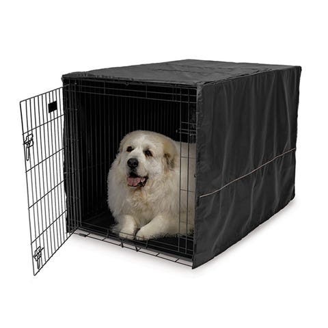 """Midwest LifeStages Dog Crate Cover Black Polyester - 48"""" / 120cm"""