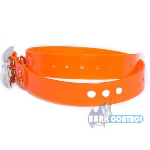 "Bark Control 3-Hole 1"" Collar Strap - Orange"