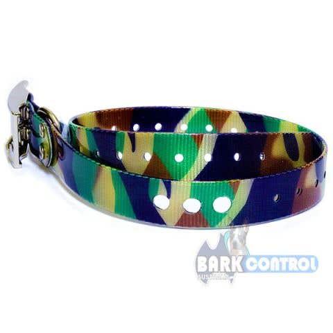 "Bark Control 3-Hole 1"" Collar Strap - Camo"