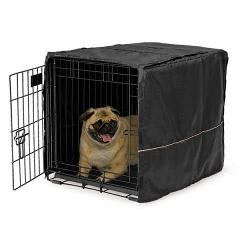 """Midwest LifeStages Dog Crate Cover Black Polyester - 24"""" / 60cm"""