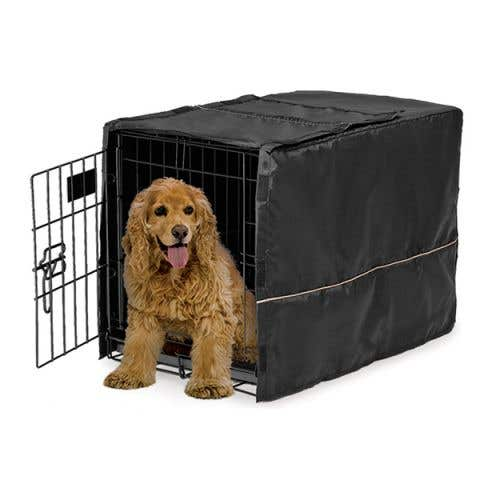 """Midwest LifeStages Dog Crate Cover Black Polyester - 30"""" / 75cm"""