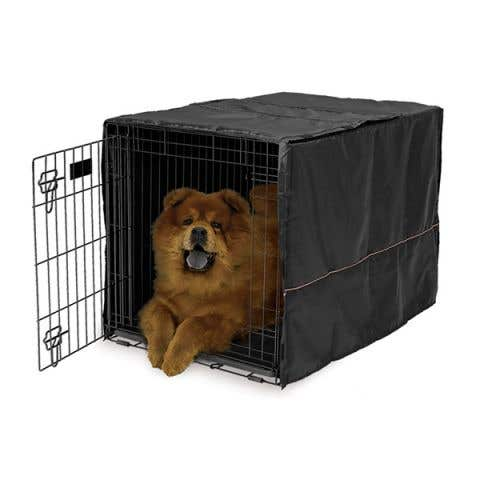"""Midwest LifeStages Dog Crate Cover Black Polyester - 36"""" / 90cm"""