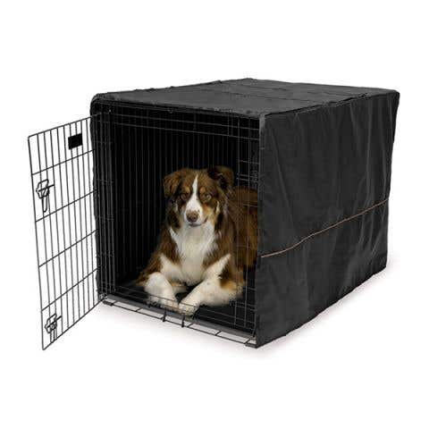 """Midwest LifeStages Dog Crate Cover Black Polyester - 42"""" / 105cm"""
