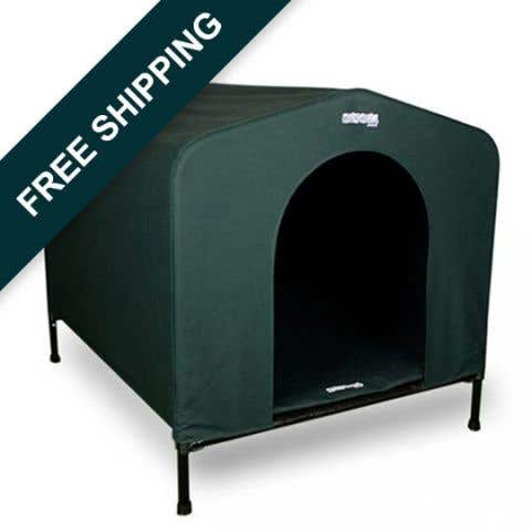 HoundHouse Original Canvas Kennel - Green
