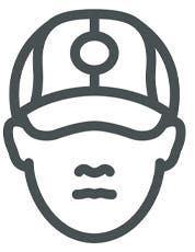 Simple Persons Head with Cap
