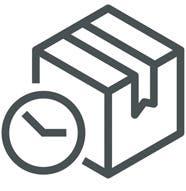Simple Box with Clock Logo